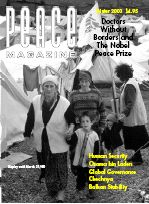 Peace Magazine Winter 2000