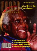 Peace Magazine Jan-Mar 2003