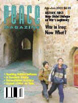 Peace Magazine Apr-Jun 2003