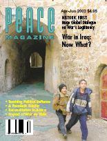 Peace Magazine Apr-Jun 2003
